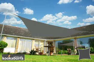 Kookaburra® 5.4m Square Charcoal Waterproof Woven Shade Sail