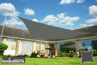 Kookaburra® 3.6m Square Charcoal Waterproof Woven Shade Sail