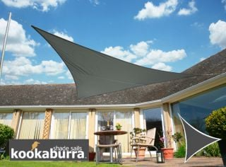 Kookaburra® 3.6m Triangle Charcoal Waterproof Woven Shade Sail
