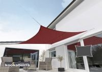 Kookaburra® 5.4m Square Wine/Burgundy Waterproof Woven Shade Sail