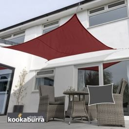 Kookaburra® 4mx3m Rectangle Wine/Burgundy Waterproof Woven Shade Sail