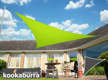 Kookaburra® 6m Right Angle Triangle Lime Green Waterproof Woven Shade Sail