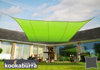 Kookaburra 5.4m Square Lime Green Waterproof Woven Shade Sail