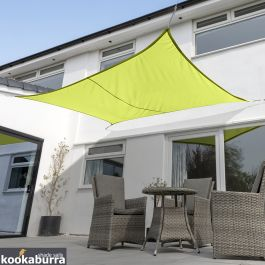Kookaburra® 6mx5m Rectangle Lime Green Party Sail Shade (Woven - Water Resistant)