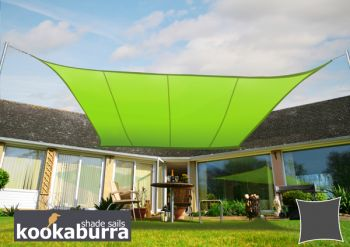 Kookaburra 3.6m Square Lime Green Waterproof Woven Shade Sail