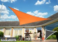 Kookaburra 6m Right Angle Triangle Orange Waterproof Woven Shade Sail