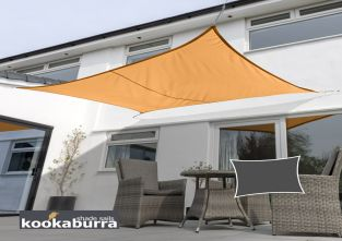Kookaburra® 3mx2m Rectangle Orange Waterproof Woven Shade Sail