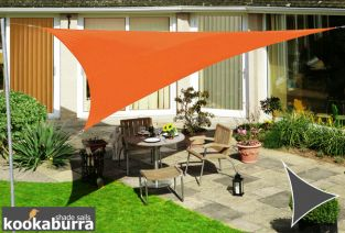 Kookaburra® 3m Triangle Orange Waterproof Woven Shade Sail