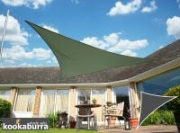Kookaburra® 6m Right Angle Triangle Sage Waterproof Woven Shade Sail