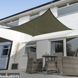 Kookaburra® 5mx4m Rectangle Sage Waterproof Woven Shade Sail