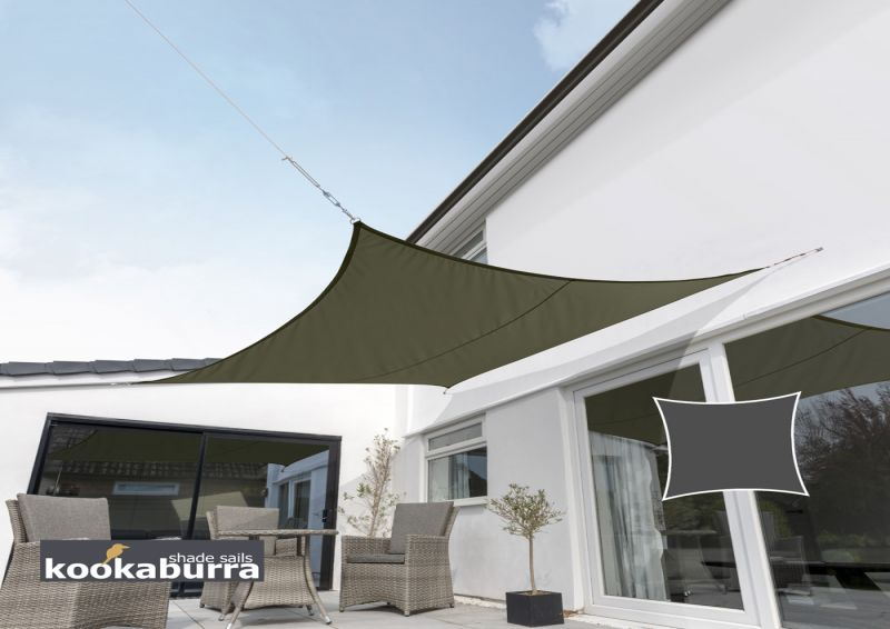 Kookaburra 3m Square Sage Waterproof Woven Shade Sail
