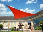 Kookaburra® 6m Right Angle Triangle Red Waterproof Woven Shade Sail