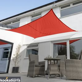 Kookaburra® 5mx4m Rectangle Red Breathable Party Shade Sail (Knitted 185g)