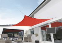 Kookaburra 3m Square Red Waterproof Woven Shade Sail
