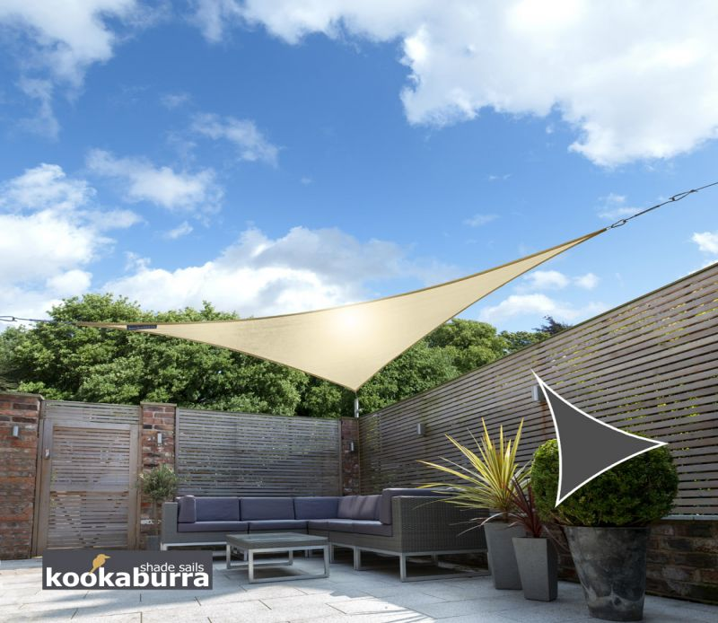 Kookaburra 3.6m Triangle Sand Knitted Breathable Shade Sail (Knitted)