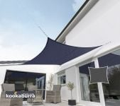 Kookaburra 5.4m Square Blue Knitted Breathable Shade Sail (Knitted)