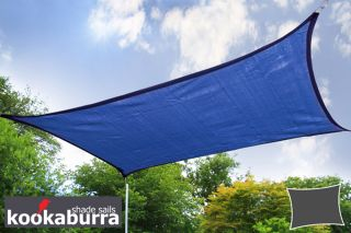 Kookaburra® 4mx3m Rectangle Blue Breathable Shade Sail (Knitted)