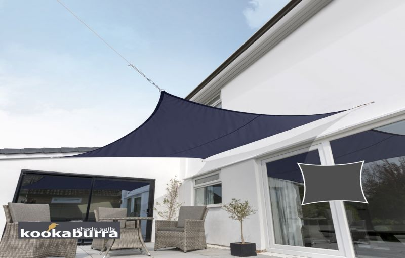 Kookaburra 3.6m Square Blue Knitted Breathable Shade Sail (Knitted)