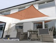 Kookaburra 4mx3m Rectangle Terracotta Breathable Shade Sail (Knitted)