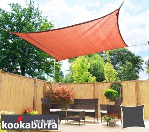 Kookaburra® 3m Square Terracotta Breathable Shade Sail (Knitted)