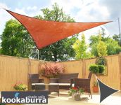 Kookaburra® 3.6m Triangle Terracotta Breathable Shade Sail (Knitted)