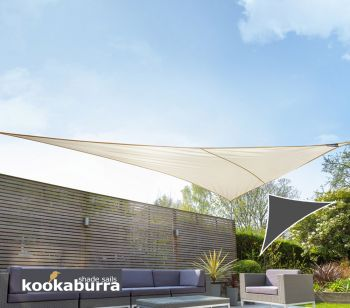 Kookaburra® 6m Right Angle Triangle Ivory Knitted Breathable Shade Sail (Knitted)