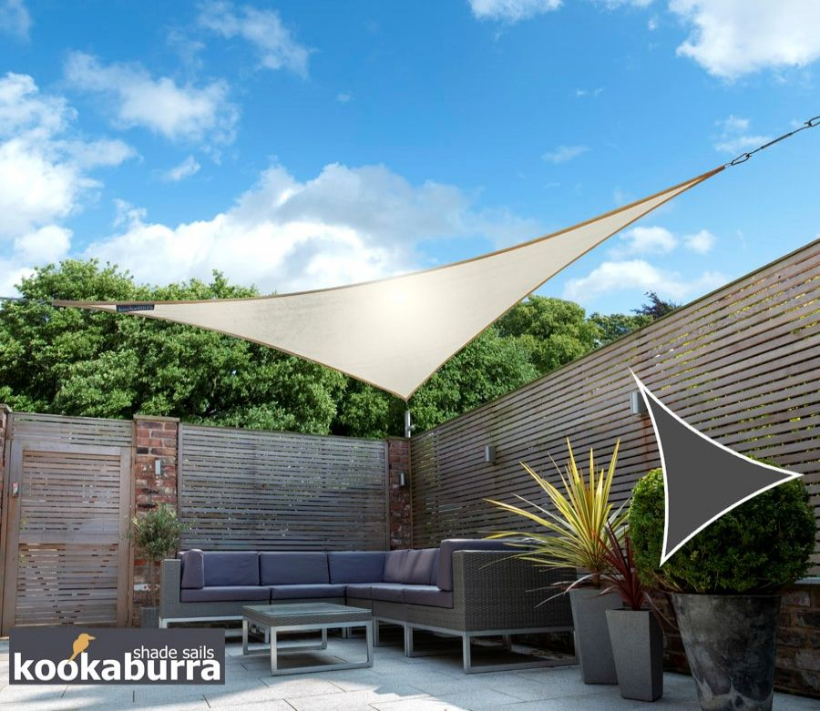 Kookaburra® 3.6m Triangle Ivory Knitted Breathable Shade Sail (Knitted)