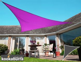 Kookaburra® 6m Right Angle Triangle Purple Waterproof Woven Shade Sail