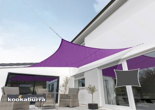 Kookaburra® 3.6m Square Purple Waterproof Woven Shade Sail