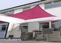 Kookaburra 5mx4m Rectangle Pink Waterproof Woven Shade Sail