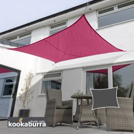 Kookaburra® 4mx3m Rectangle Pink Waterproof Woven Shade Sail