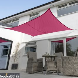Kookaburra® 5mx4m Rectangle Pink Waterproof Woven Shade Sail