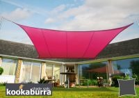 Kookaburra 3m Square Pink Waterproof Woven Shade Sail