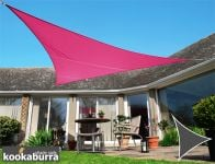 Kookaburra 3m Triangle Pink Waterproof Woven Shade Sail