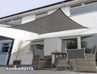 Kookaburra 4mx3m Rectangle Charcoal Breathable Shade Sail (Knitted)