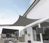 Kookaburra 3.6m Square Charcoal Breathable Shade Sail (Knitted)