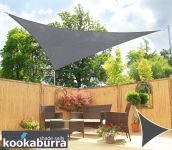 Kookaburra 3.6m Triangle Charcoal Breathable Sail Shade (Knitted)
