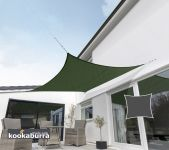 Kookaburra 5.4m Square Green Breathable Party Shade Sail (Knitted 185g)