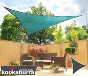 Kookaburra® 5m Triangle Green Breathable Party Shade Sail (Knitted 185g)