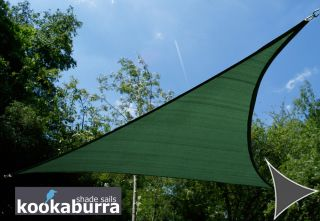 Kookaburra® 3m Triangle Green Breathable Party Shade Sail (Knitted 185gsm)