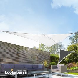 Kookaburra® 6m Right Angle Triangle Polar White Breathable Party Shade Sail (Knitted 185gsm)