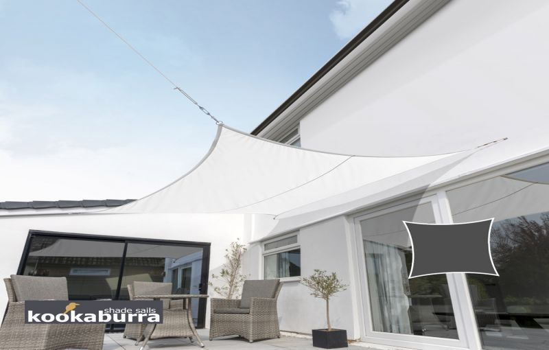 Kookaburra 5.4m Square Polar White Breathable Party Shade Sail (Knitted 185gsm)