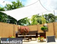 Kookaburra® 3mx2m Rectangle Polar White Breathable Party Shade Sail (Knitted 185gsm)