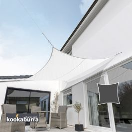 Kookaburra® 3m Square Polar White Breathable Party Shade Sail (Knitted 185gsm)