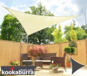 Kookaburra® 5m Triangle Ivory Party Sail Shade (Woven - Water Resistant)