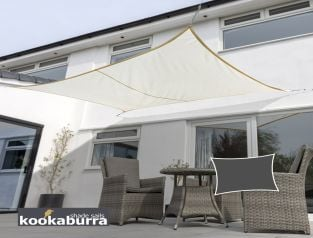 Kookaburra® 4mx3m Rectangle Ivory Party Sail Shade (Woven - Water Resistant)