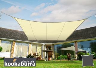 Kookaburra® 2m Square Ivory Party Sail Shade (Woven - Water Resistant)