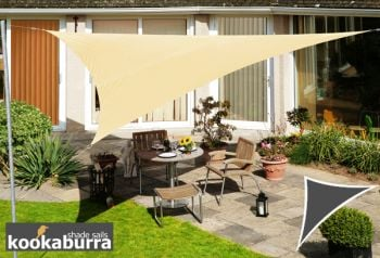 Kookaburra® 3.6m Triangle Ivory Party Sail Shade (Woven - Water Resistant)