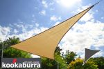 Kookaburra® 5m Triangle Sand Party Sail Shade (Woven - Water Resistant)