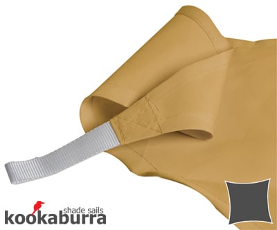 Kookaburra 3m Square Sand Party Sail Shade (Woven - Water Resistant)